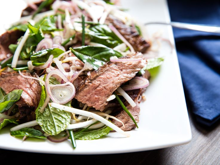 [Photographs: J. Kenji Lopez-Alt] My absolute favorite way to marinate flank steak is with a sweet and spicy Thai-style sauce. I make mine with palm sugar (brown sugar will do fine), dried Thai chili flakes, fish sauce, garlic, and lime...