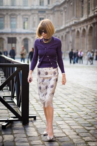 STYLE DU MONDE / Paris Fashion Week  Spring-Summer 2014:  Anna Wintour  //