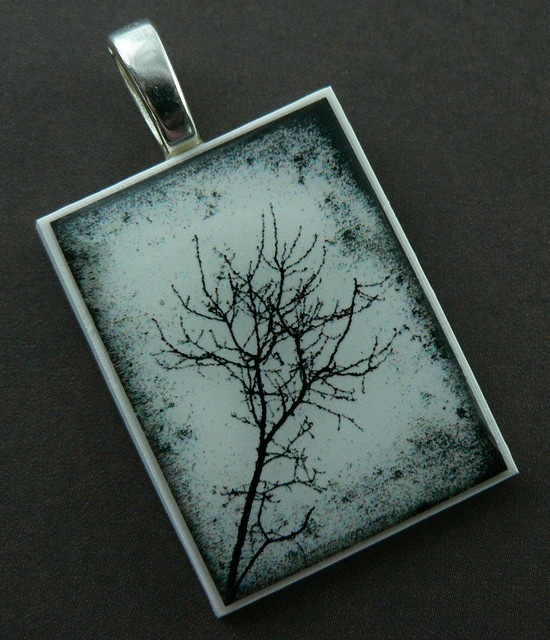 Polymer Clay pendant - pretty cool