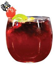 DonQ Bloody Rum Punch  Ingredients:        1 750ml bottle of DonQ Cristal rum      1/2 bottle red wine      6 oz. fresh lime juice      6 oz. triple sec liqueur      6 oz. simple syrup      2 limes sliced in thin wheels      2 red oranges sliced in thin wheels