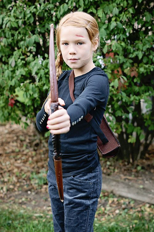 Katniss brought to you by Cookie's Kids! Midwestern Girl: How I am managing to NOT spend a ton of money on Halloween costumes...#CookiesKids #CBias