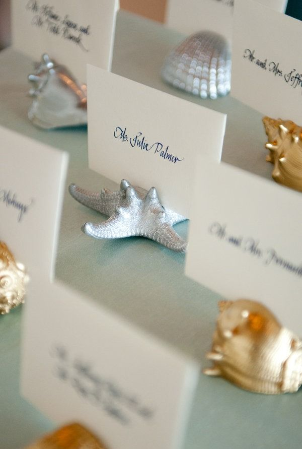 seating cards for a beach wedding