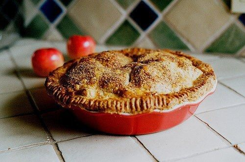 pie, apple, and vintage image