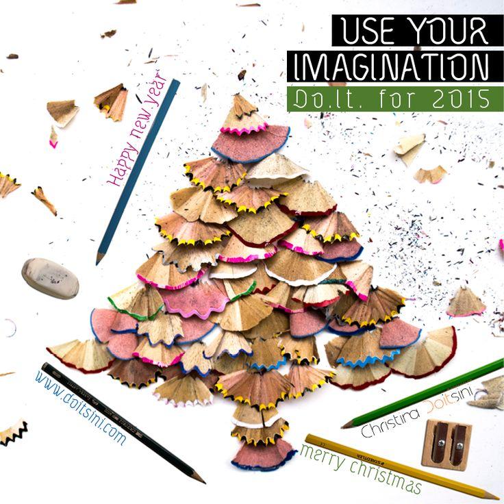 Use your imagination. Do.it for 2015 - Eυχετήρια πρωτοχρονιάτικη κάρτα | Banner για Facebook 2014-15 | Graphic Design | Christina Doitsini