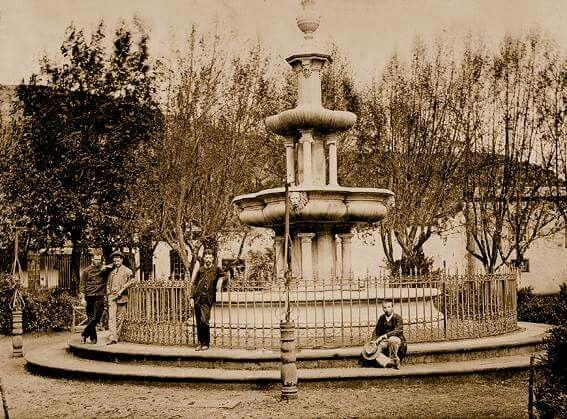 La Fuente.Plaza del Adelantado. La Laguna. Tenerife. Anónimo. Año:1880.