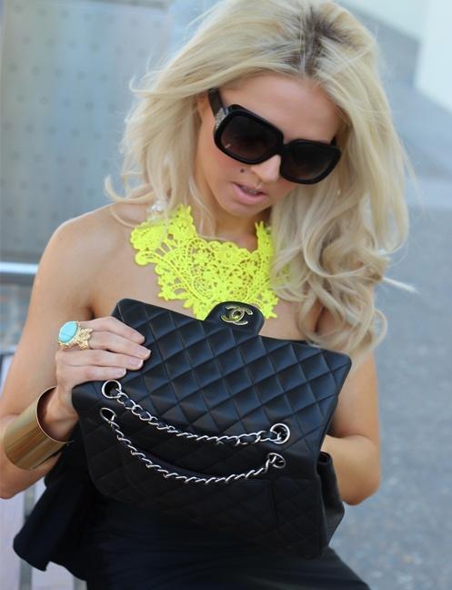 diy neon statement necklace - photo #22