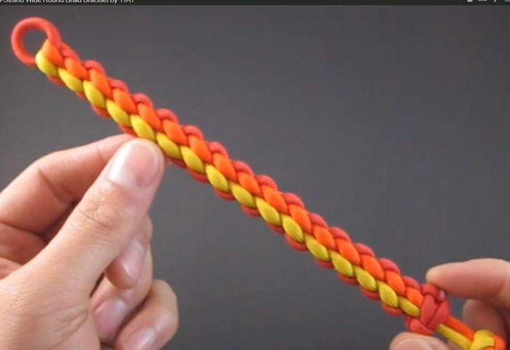 How to Make a 6-Strand Wide Round Braid Bracelet by TIAT
