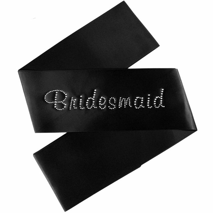 Bridesmaid Sash with Crystal Text - 7 colour options available - $13.95 See more at http://myhensparty.com.au/