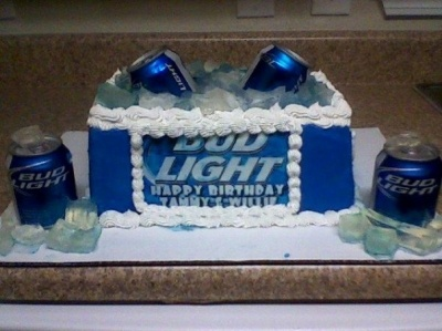 bud light cake By strawberry1 on CakeCentral.com