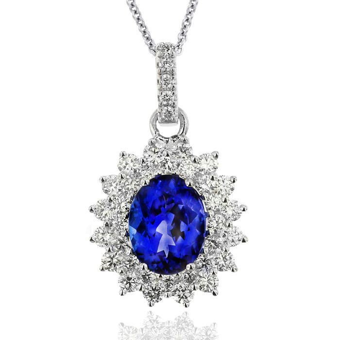 Kilimanjaro Collection Tanzanite and Diamond pendant. in Adelaide Arcade.   #tanzinite #diamonds #pendant #unique #luxury #oneoff #gerardmccabe #mccabediamonds