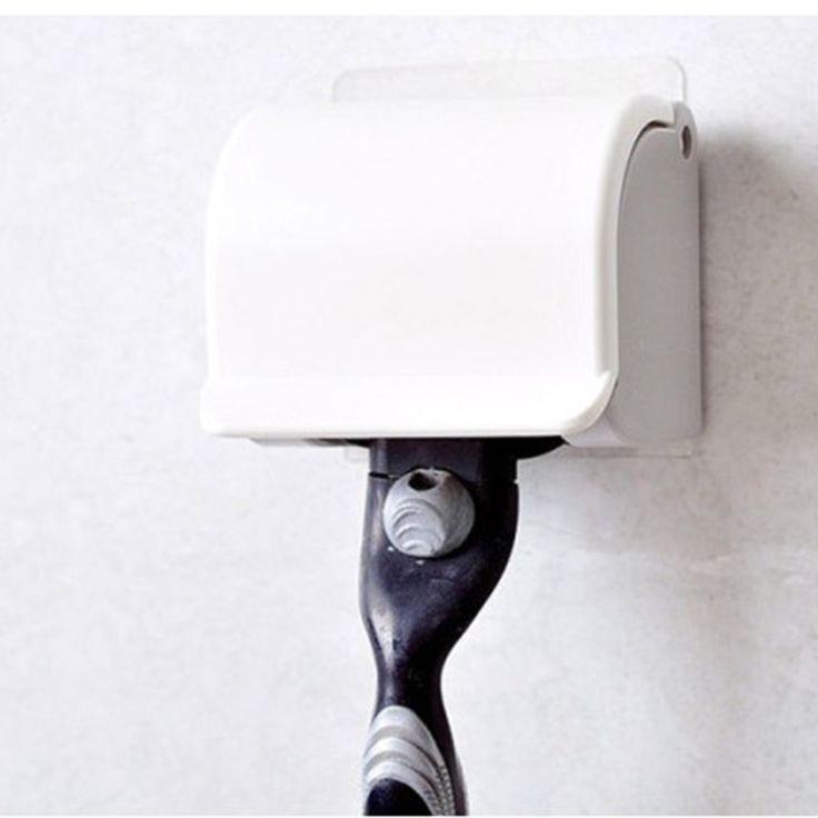 1 шт. мужская бритва пластиковые бритва стойки всасывается всасывающим обладатель кубка вешалка держатель ванная комната инструменты купить на AliExpress