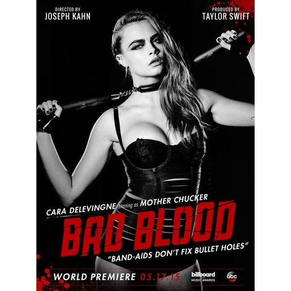 Cara Delevingne Joins 'Bad Blood' Cast as Mother Chucker ❤ liked on Polyvore featuring taylor swift, bad blood, cara delevingne, people and pictures