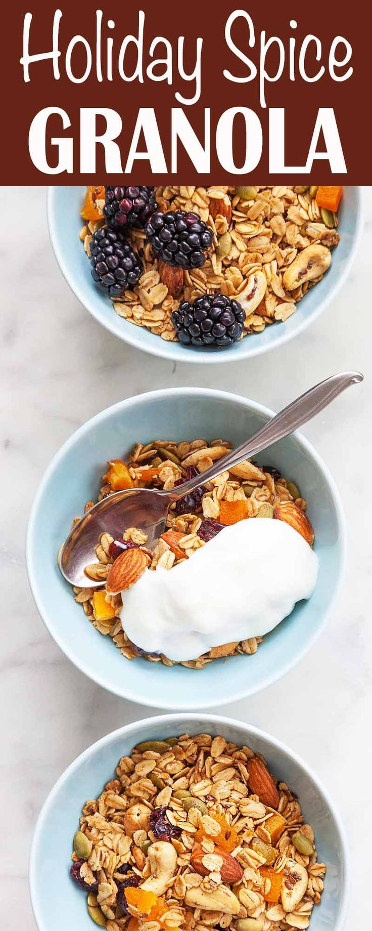 Holiday Spice Granola! Oats, almonds, cashews, cranberries, and dried ...