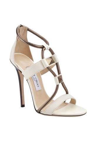 Jimmy Choo spring 2014 shoes #white #brown #jimmychoo