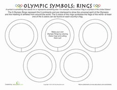 Olympic Rings Worksheet ~This doesn't list the colors, so you'd have to add that to the worksheet unless you have a color printer or copier...Sorry public school teachers, lol.