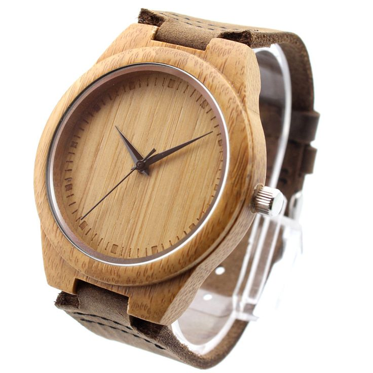 New arrival japanese miyota movement wristwatches genuine leather bamboo wooden watches