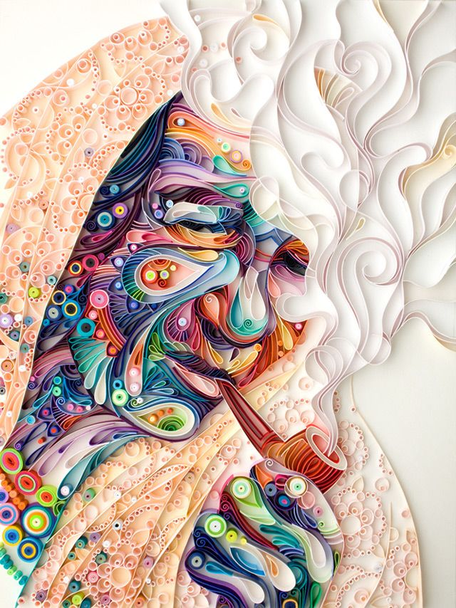 A New Quilled Paper Portrait from Yulia Brodskaya    http://www.thisiscolossal.com/2013/03/new-quilled-paper-portrait-from-yulia-brodskaya