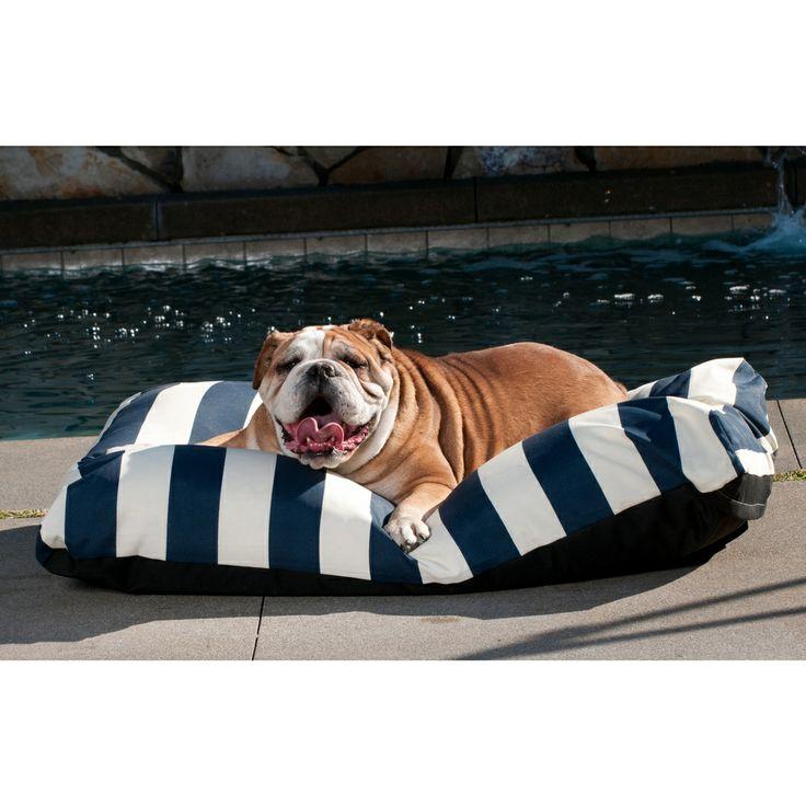 Indoor Outdoor Striped Cabana Pet Bed