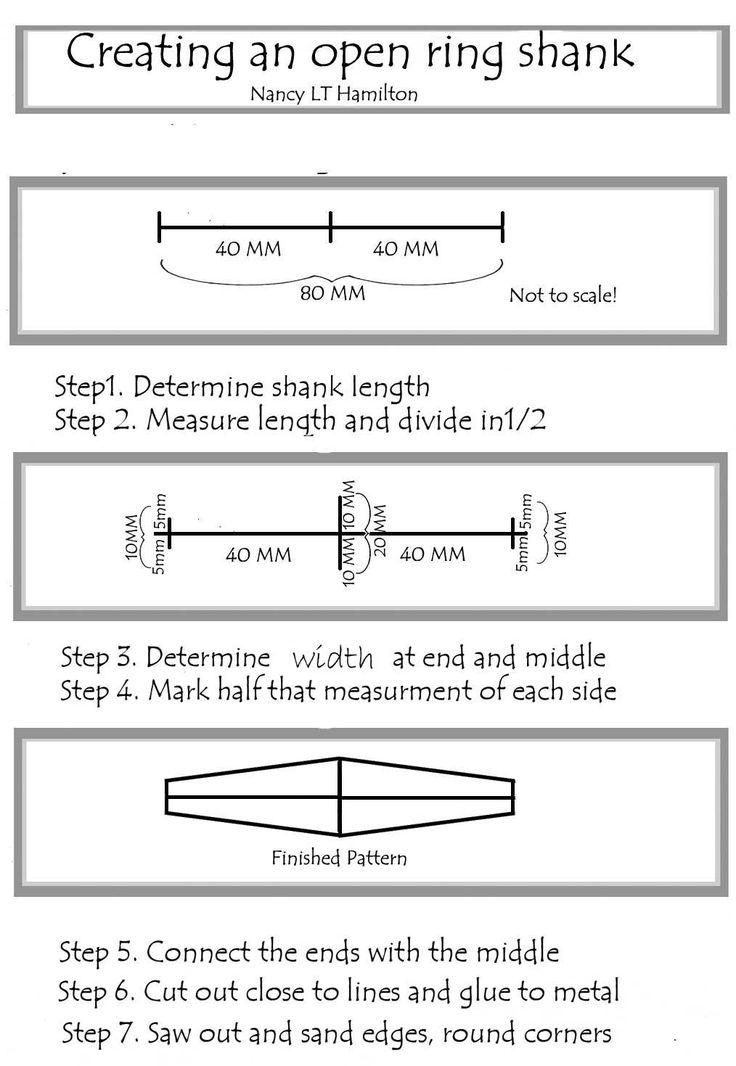 Adjustable Ring Shank Patterns   Nancy L T Hamilton - Sagoma di un anello regolabile