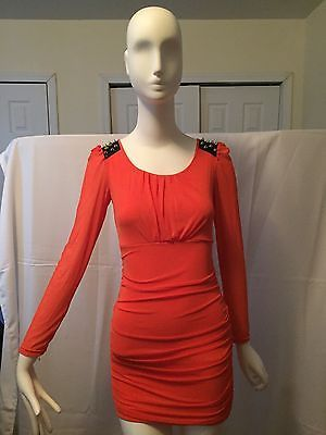 Dress-Orange-Sz-Small-not-read-tag-spandex-new-w-out-tag-long-sleeve