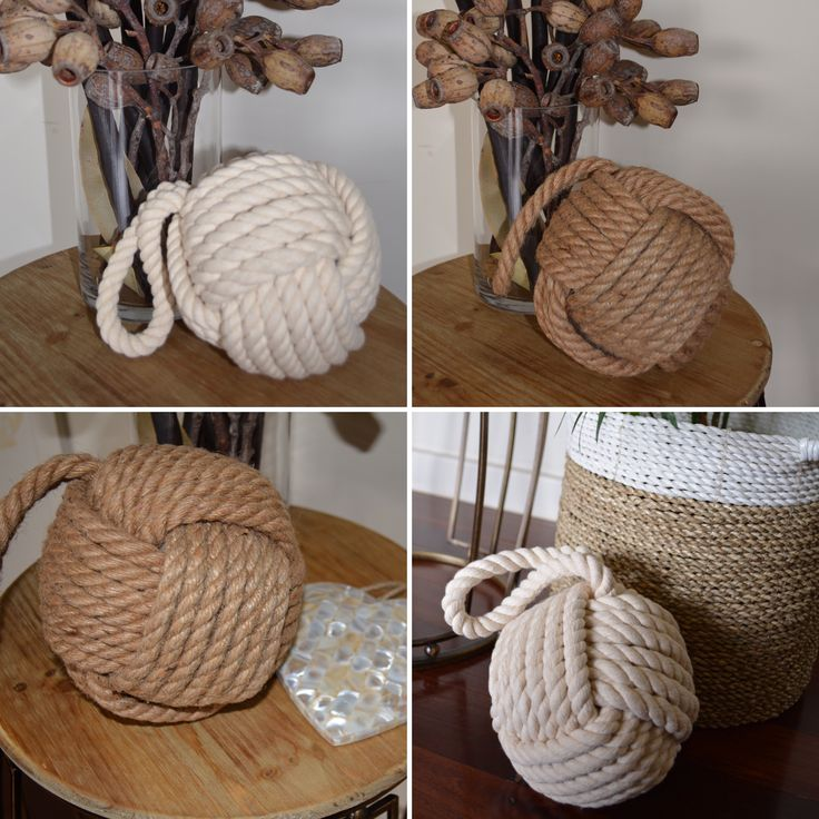 I love the natural aspect of these useful door stops. Choose jute or cotton rope from Janggalay