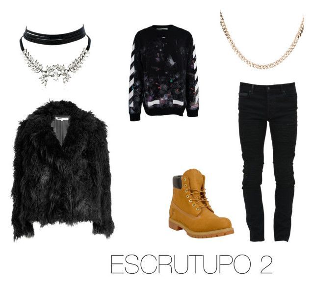 """""""ESCRUTUPO 2"""" by fsh-style on Polyvore featuring Marcelo Burlon, Off-White, McQ by Alexander McQueen, Timberland, Luna Skye, WithChic, men's fashion y menswear"""