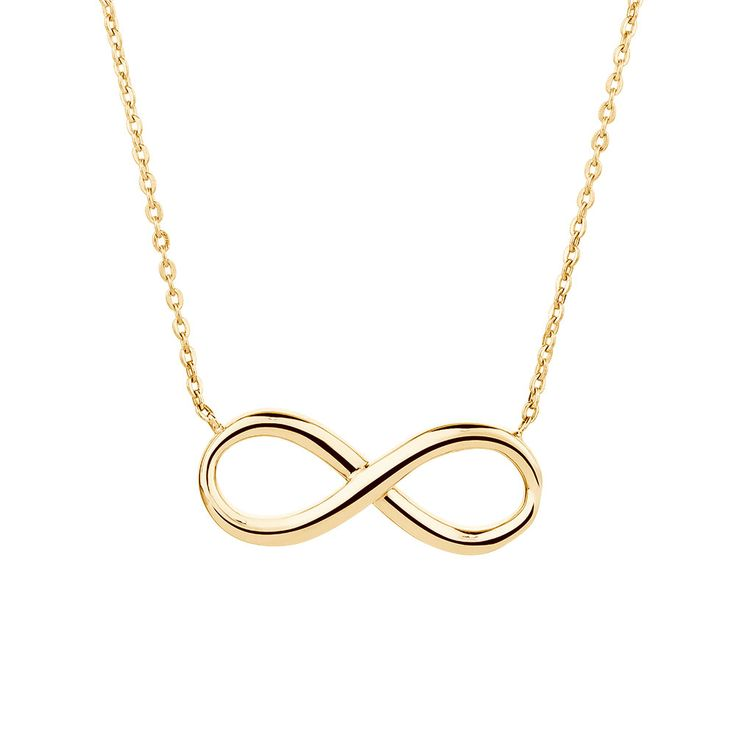 Say forever with this 10ct yellow gold necklace. Featuring a fine chain centred with a single infinity symbol, this classic accessory is sure to be admired.