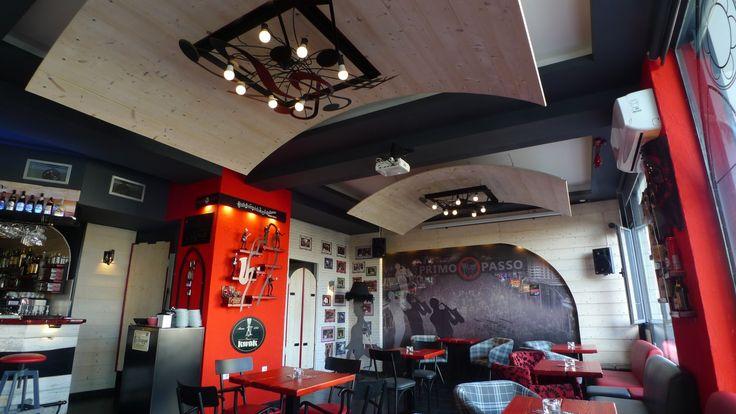 Project: Café- Music Bar- Restaurant-Μπυραρία Location: Κερατσίνι, Αττική, Ελλάδα Date: 2014 Scope: Εσωτερική αρχιτεκτονική, Διακόσμηση, Βιομηχανικός σχεδιασμός, Κατασκευή επίπλων φωτιστικών και διακοσμητικών