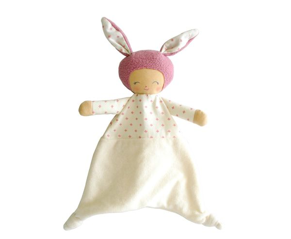 Alimrose – Charlie Comforter Pink Super soft comforter 30cm tall with a super cute little face