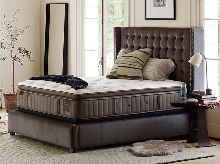 Scarborough Luxury Firm Euro Pillow Top King Mattress Set by Stearns & Foster at Crowley Furniture in Liberty, Lee's Summit and Overland Park.