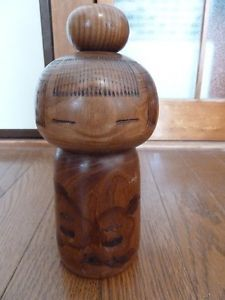 """Cute Girl "" Japanese vintage kokeshi doll by Kazuo"
