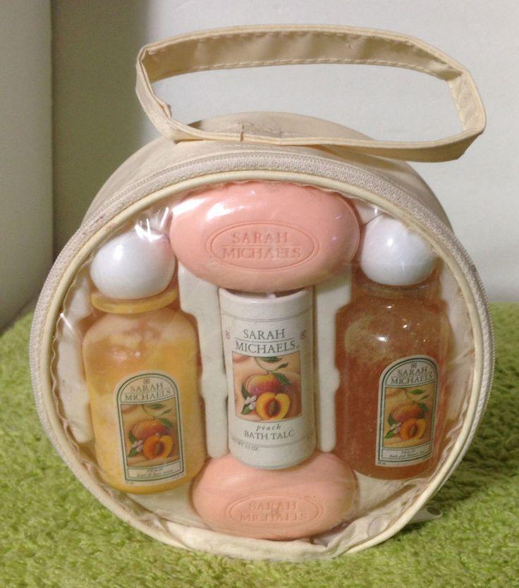Sarah Michaels Peach Set Soap Hand Body Lotion Bath Talc