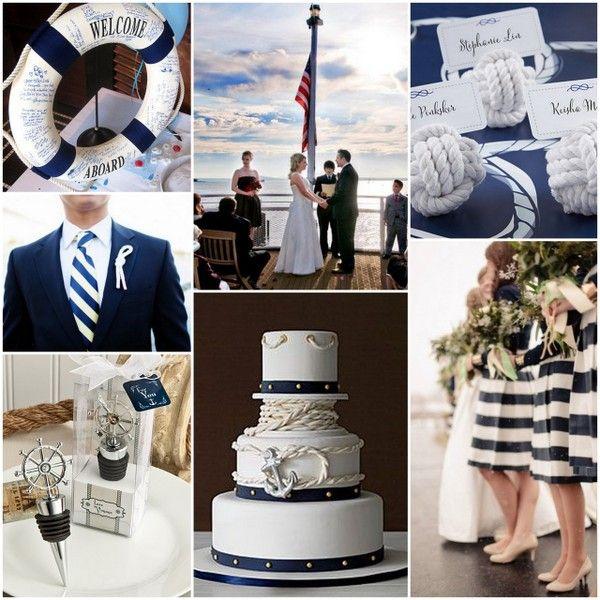 Nautical Themed Wedding Inspiration, Wedding Decoration and Party Favors Ideas from HotRef.com #nauticalwedding