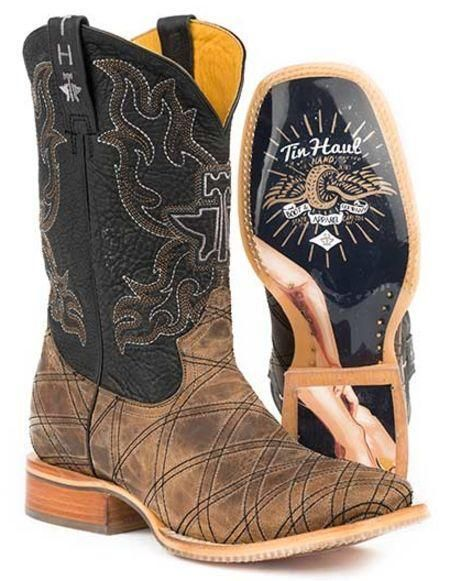 Tin Haul Men's Ichthys Aroundus Western Boots Style 14-020-0007-0332