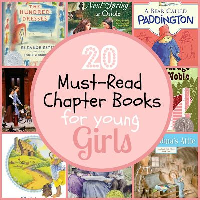20 MUST READ Chapter Books for Young Girls {The Unlikely Homeschool}