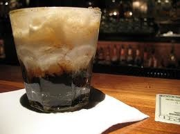 White Russian.....  :Ingredients    1 1/2 oz vodka  3/4 oz coffee liqueur  3/4 oz cream.  Instructions:    Pour vodka and coffee liqueur over ice cubes in an old-fashioned glass. Stir the mixture. Fill with light cream and serve: Memorial Liqueurs, Coffee Liqueurs, Classic Cocktails, Drinks Recipes, Russian Recipes, White Russian, Russian Drinks, Favorite Recipes, Cocktails Recipes