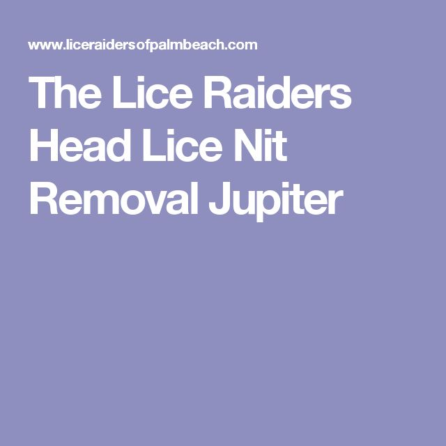 The Lice Raiders Head Lice Nit Removal Jupiter