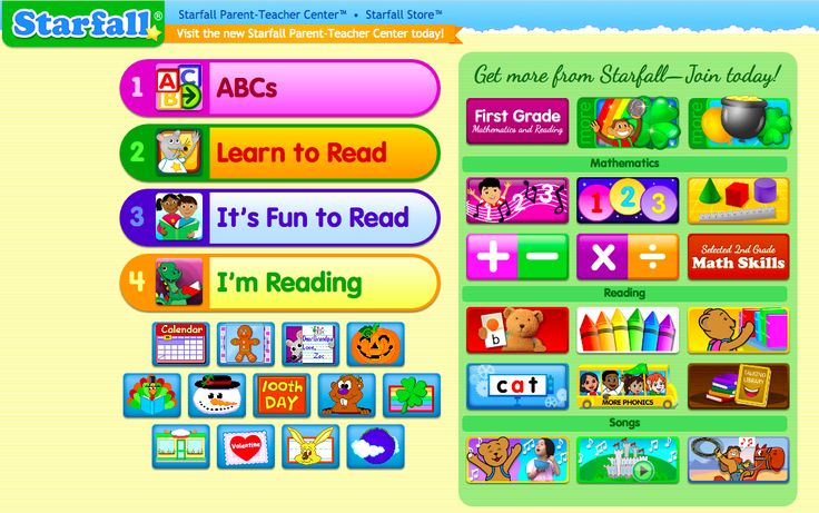Starfall is a free online resource that includes a wide variety of engaging activities to support phonics learning. The interactive books and games teach letter-sound relationships and word decoding using a levelled approach.  I like that the resource provides students with opportunities for practicing and applying their knowledge at home and at school.
