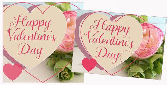 Happy Valentine's Day Girlfriend gift. Valentine's card printable. Valentine's day decor in 11x14, 8x10, 5x7 inches, 105x150, 135x135 mm. www.etsy.com/listing/504051065