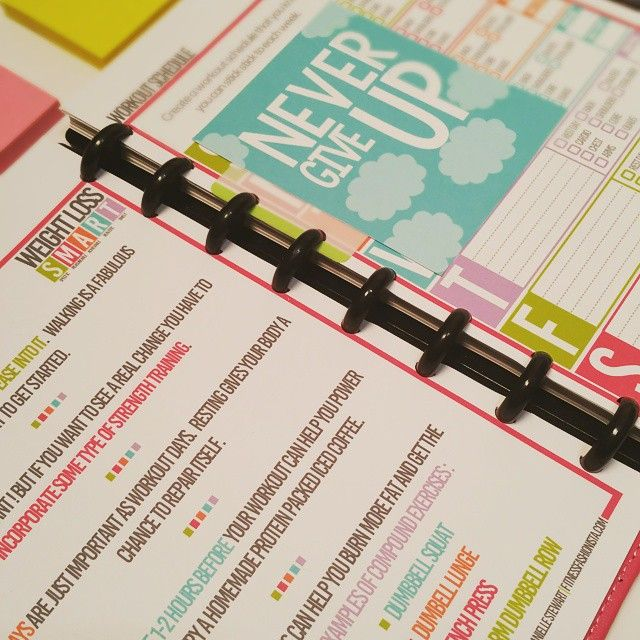 The SMART Weight Loss Fitness planner is here. A4 and…