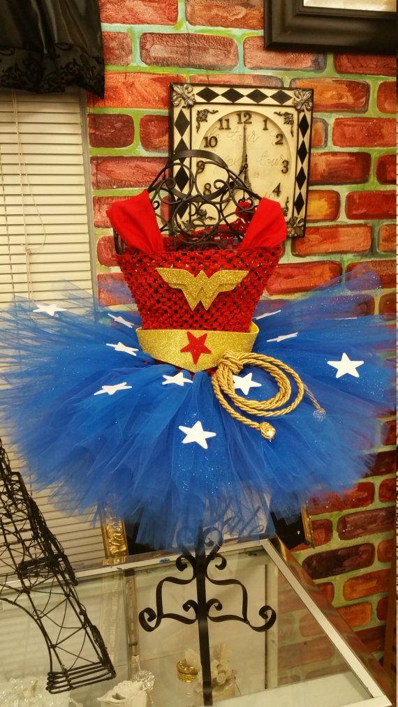 Wonder Woman tutu dress, wonder woman tutu no cape Will arrive before halloween