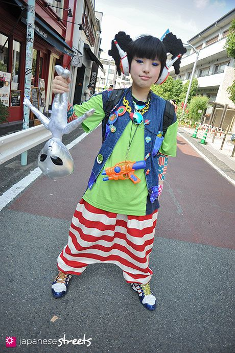 absolutely amazing style w/ tons of fun stuff going on | Peke, 21 years old, student | 14 June 2013 | #Fashion #Harajuku (原宿) #Shibuya (渋谷) #Tokyo (東京) #Japan (日本)
