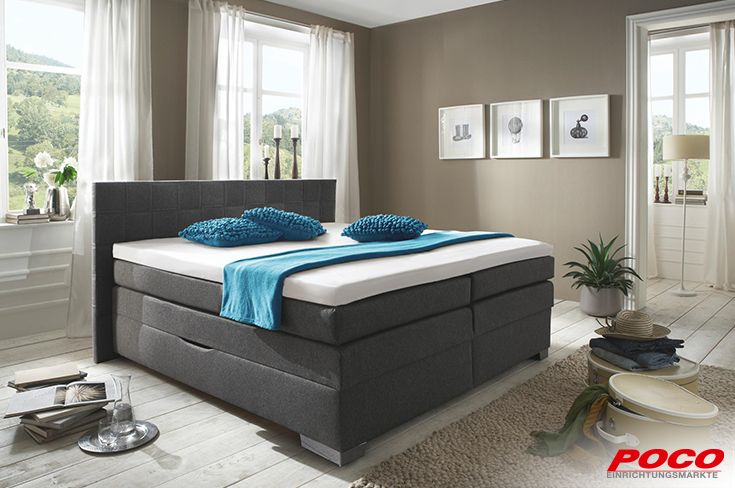poco einrichtungsm rkte boxspringbett home living pinterest boxspringbett. Black Bedroom Furniture Sets. Home Design Ideas