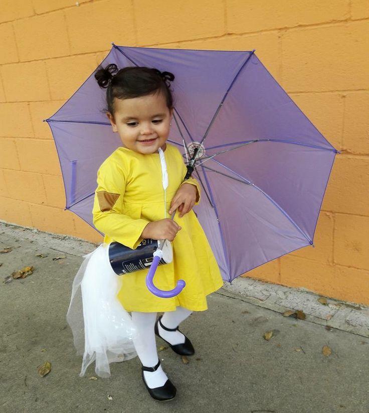 Unique baby girl/ toddler girl Halloween costume. Morton salt girl. 💜 DIY.