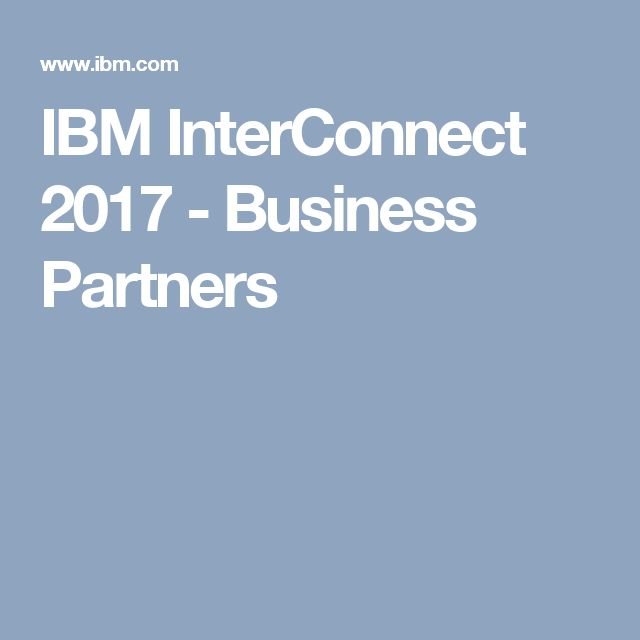 IBM InterConnect 2017 - Business Partners
