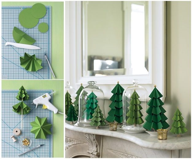 These Modular Paper Christmas Tree are as pretty as origami versions but easier …