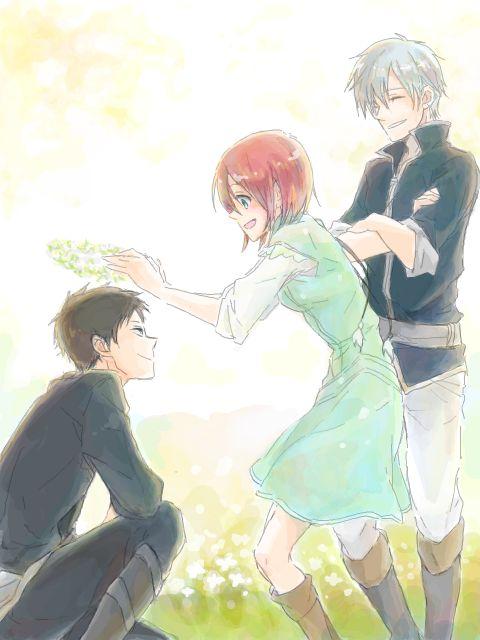 Akagami no Shirayuki-hime - Snow White with the Red Hair - Obi, Shirayuki, and Zen