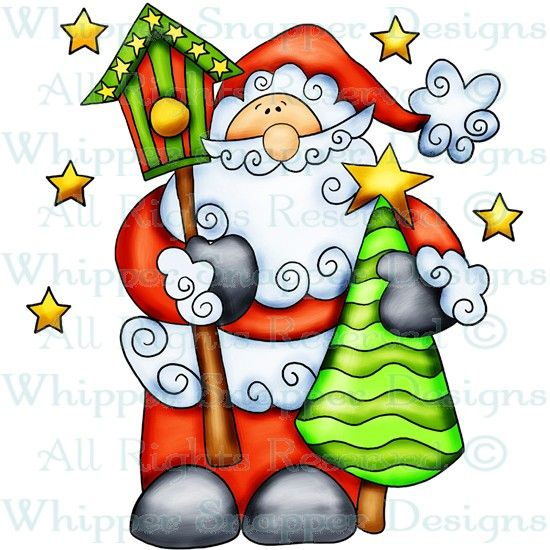 Santa & Tree - Christmas Images - Christmas - Rubber Stamps - Shop