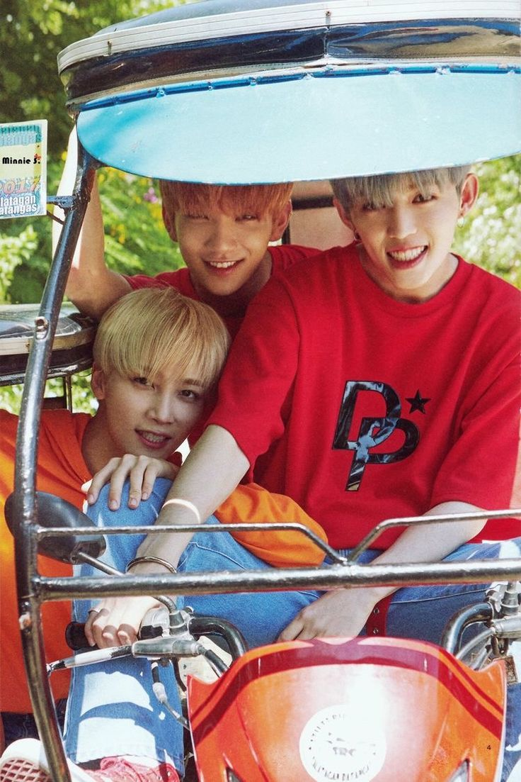 They look so handsome on the tricycle! My filipino ass is crying~ #SEVENTEEN