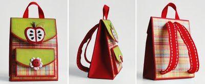 sac à dos en papier (scrap) - tuto mini sac à dos